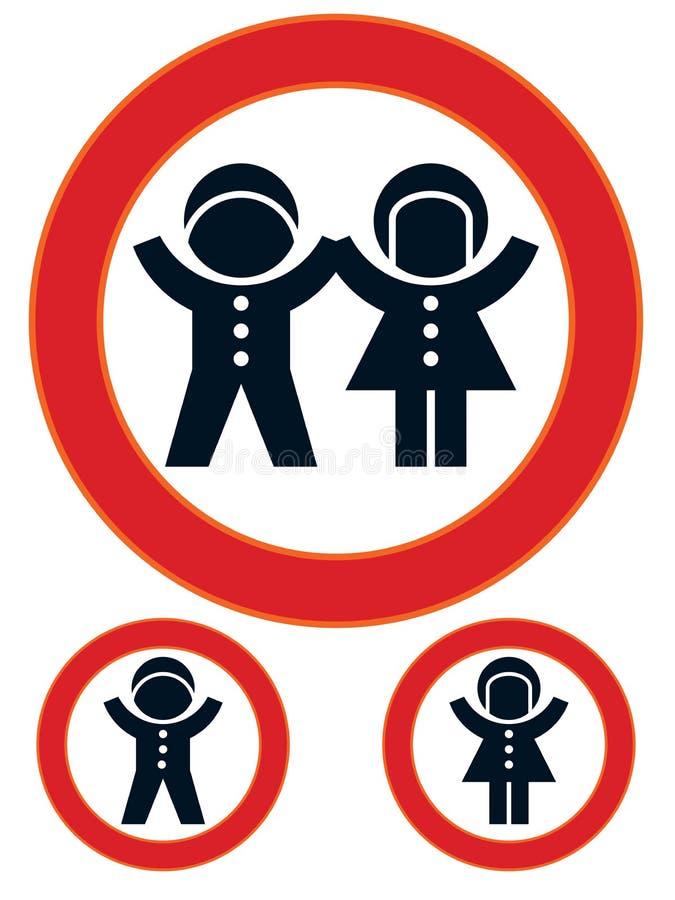 знак ограничения детей иллюстрация штока