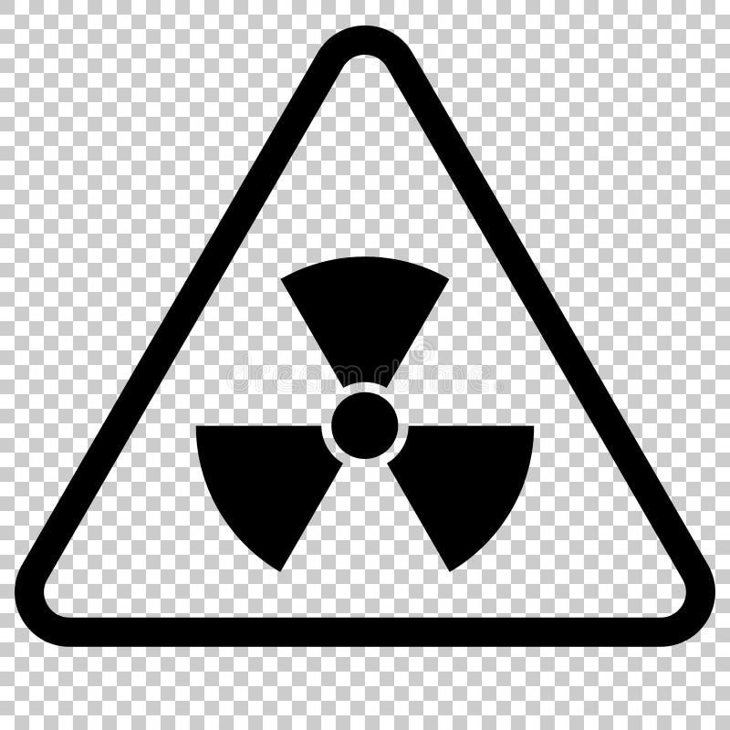 Знак опасности радиации Изолированный символ бесплатная иллюстрация