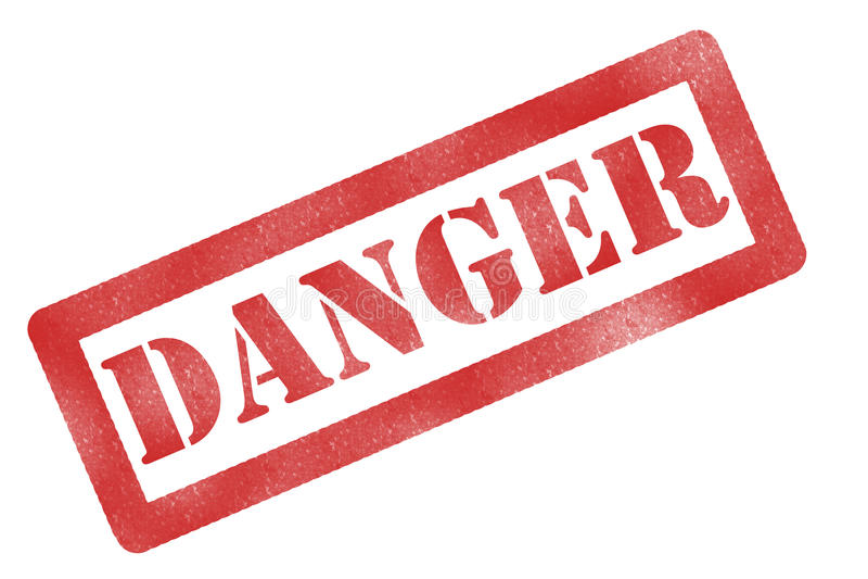 знак опасности стоковые фото