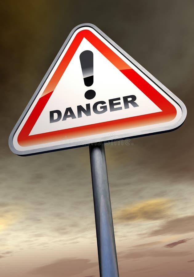 знак опасности иллюстрация вектора