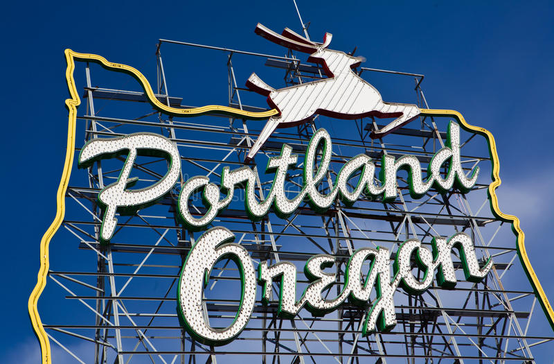 знак Орегона portland стоковые фотографии rf