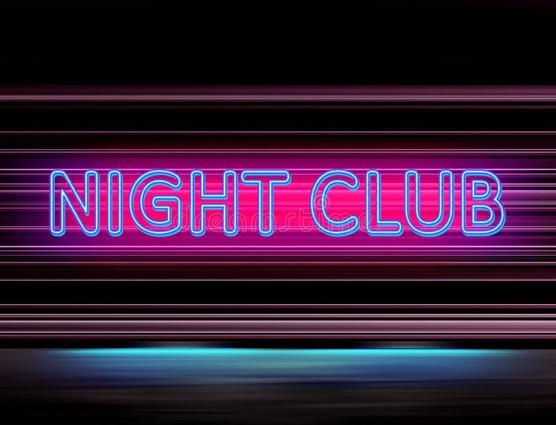 Знак освещения ночного клуба бесплатная иллюстрация