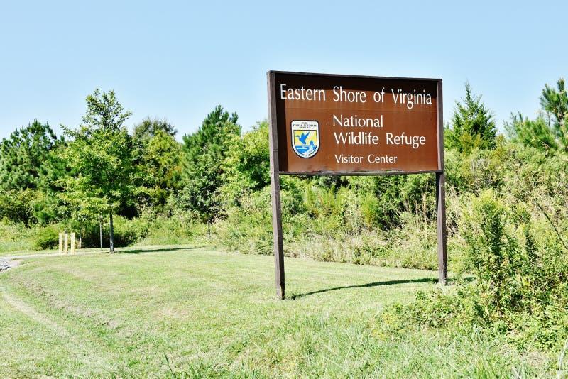 Знак охраняемой природной территории Вирджинии восточного берега национальный стоковое изображение