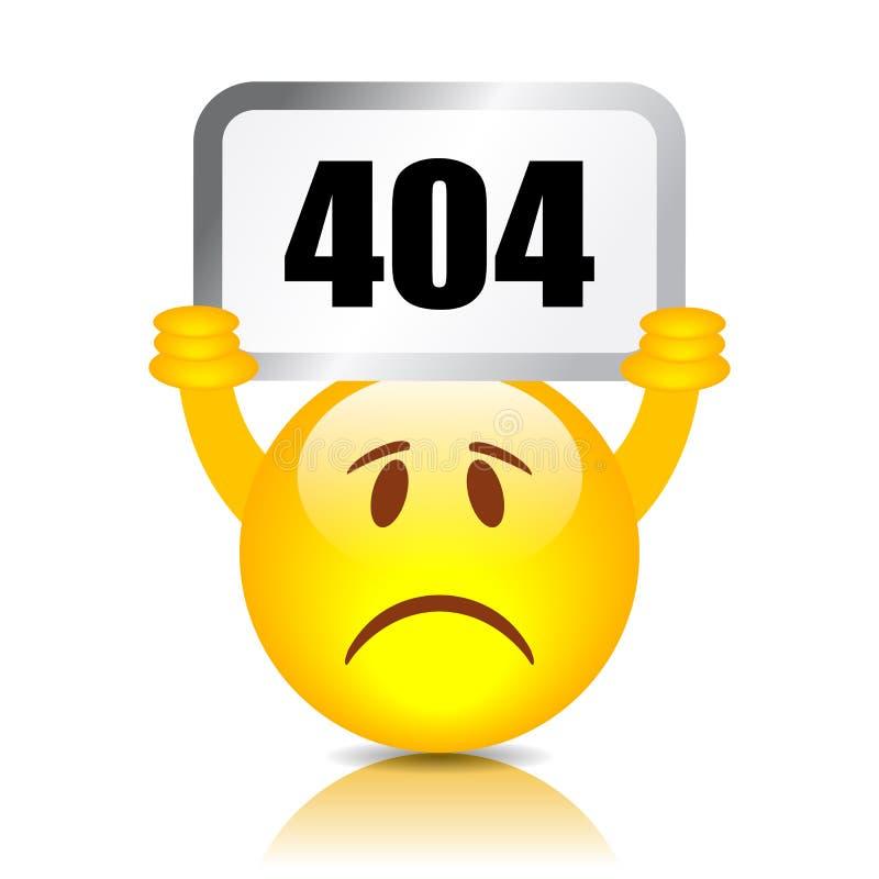 знак 404 ошибок иллюстрация вектора