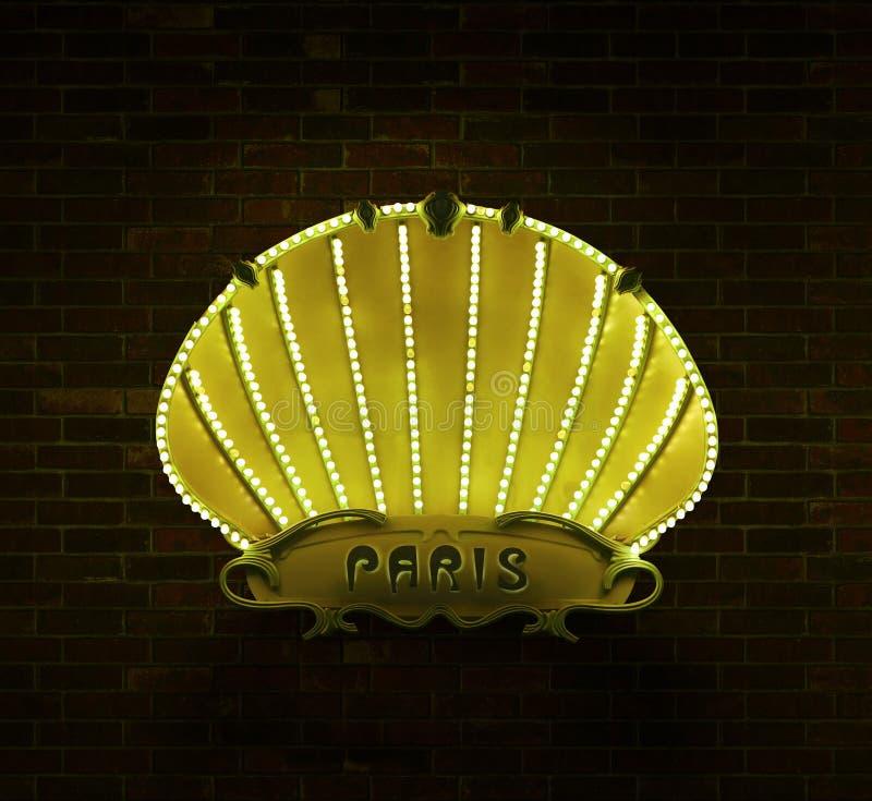 Знак Париж стоковое изображение