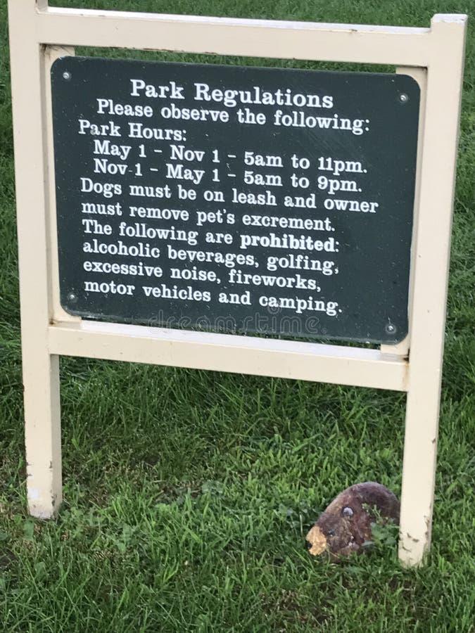Знак парка стоковое фото rf