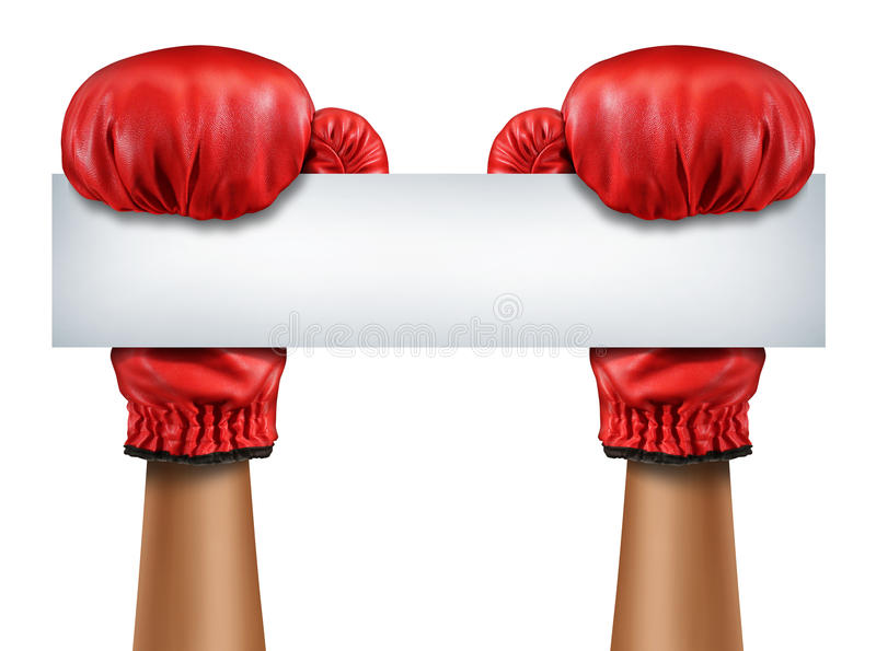 Знак перчаток бокса пустой бесплатная иллюстрация