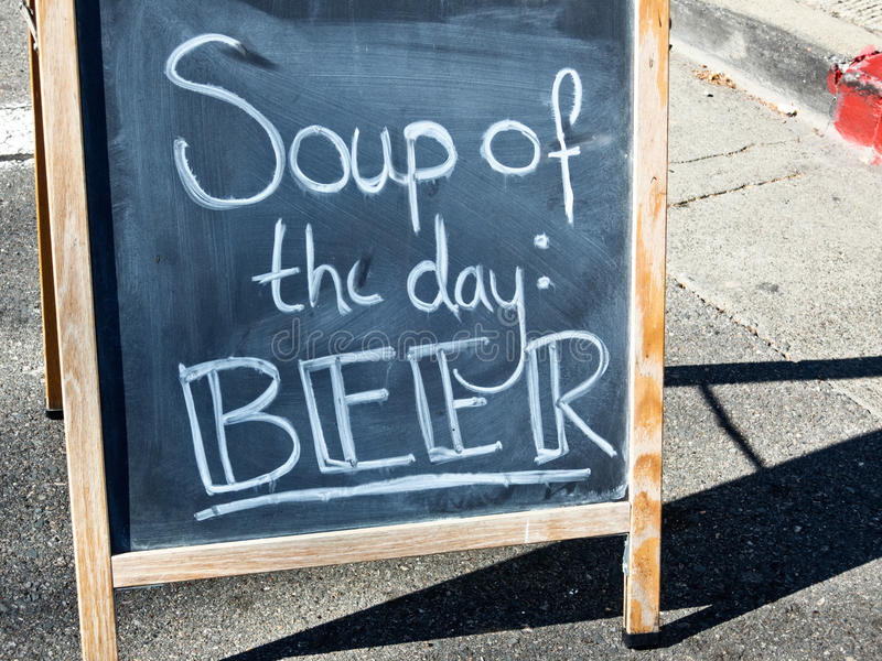 Знак пива стоковое фото rf
