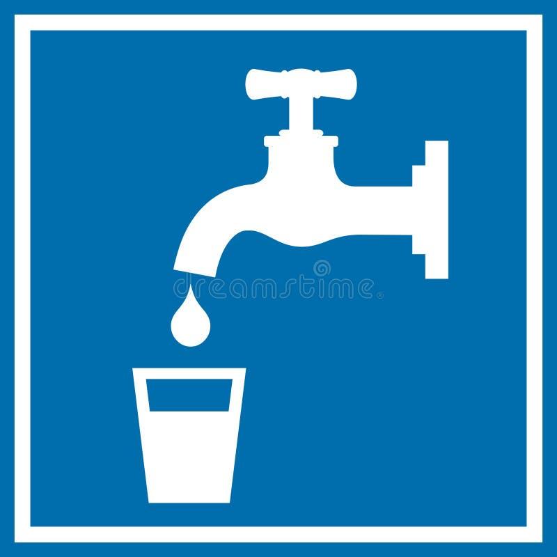 Знак питьевой воды иллюстрация вектора