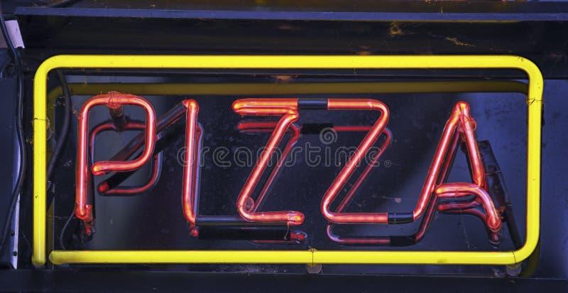 Знак пиццы стоковые фото
