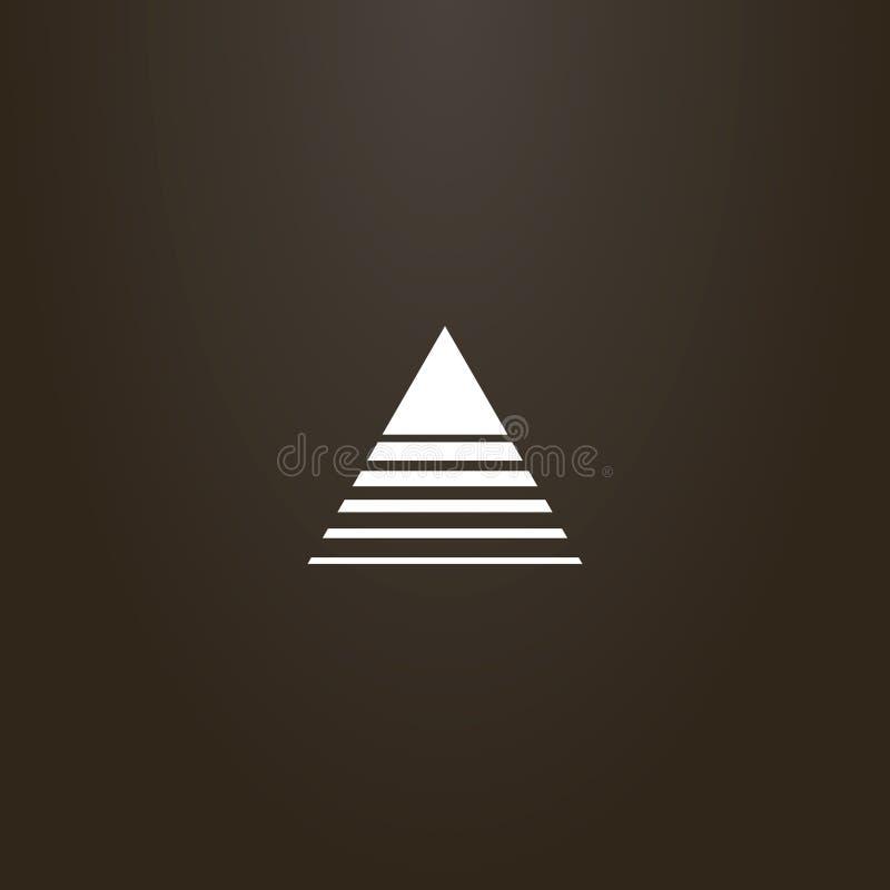 Знак плана конспекта вектора треугольника пересеченного линиями различных ширин бесплатная иллюстрация
