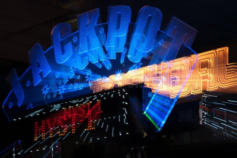 Знак победителя джэкпота от казино стоковое фото rf
