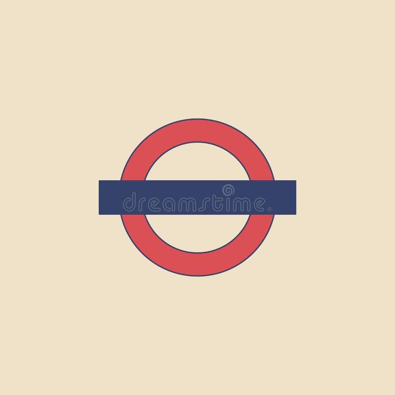 Знак подполья вектора в современном плоском стиле на светлой предпосылке Плакат с подземным знаком бесплатная иллюстрация