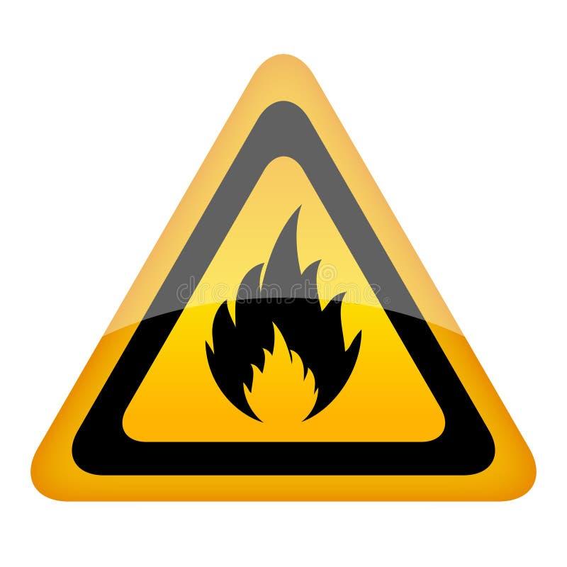Знак пожара вектора иллюстрация вектора
