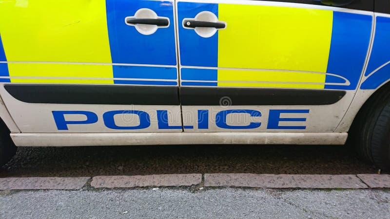 Знак полицейской машины стоковое изображение rf