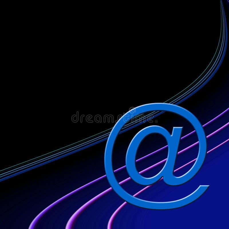 знак почты e иллюстрация штока