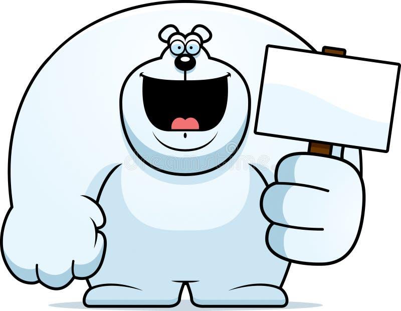 Знак полярного медведя шаржа иллюстрация штока