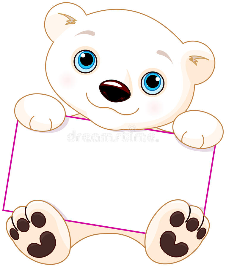 Знак полярного медведя иллюстрация вектора