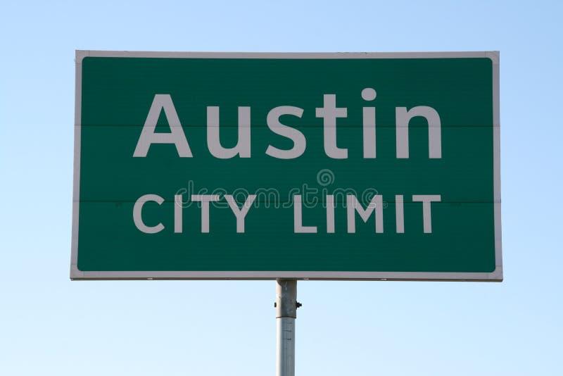 знак предела города austin стоковое фото
