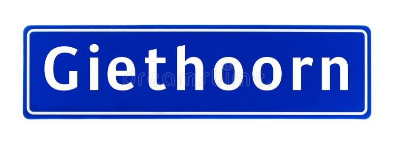 Знак предела города Giethoorn, Нидерландов стоковые изображения