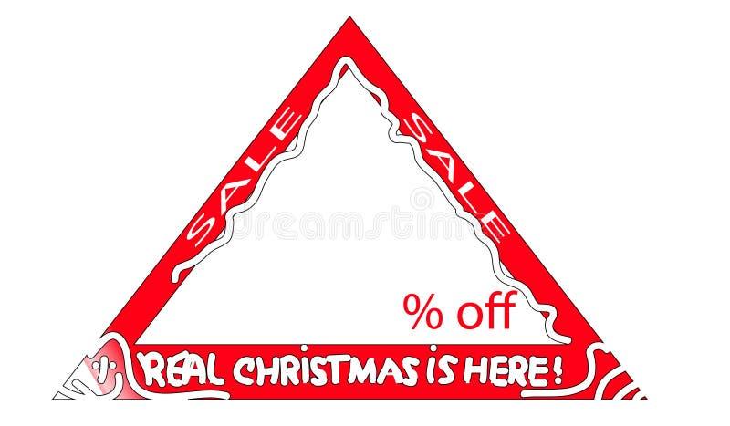 Знак продажи рождества стоковое изображение rf