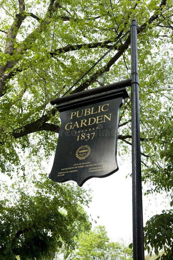 знак публики сада boston стоковые фото