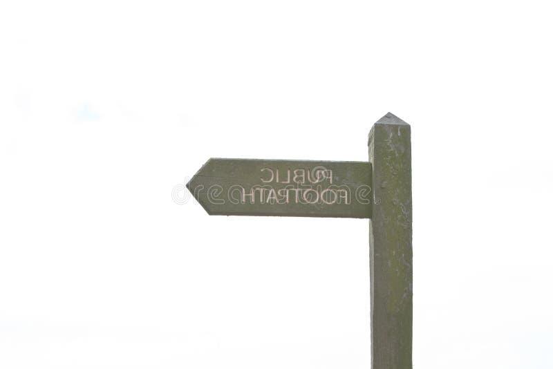знак публики footpath стоковое изображение