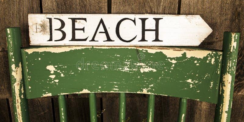 Знак пляжа стоковое изображение rf