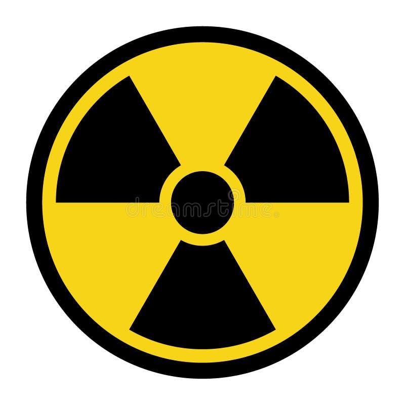 Знак радиации желтый иллюстрация вектора