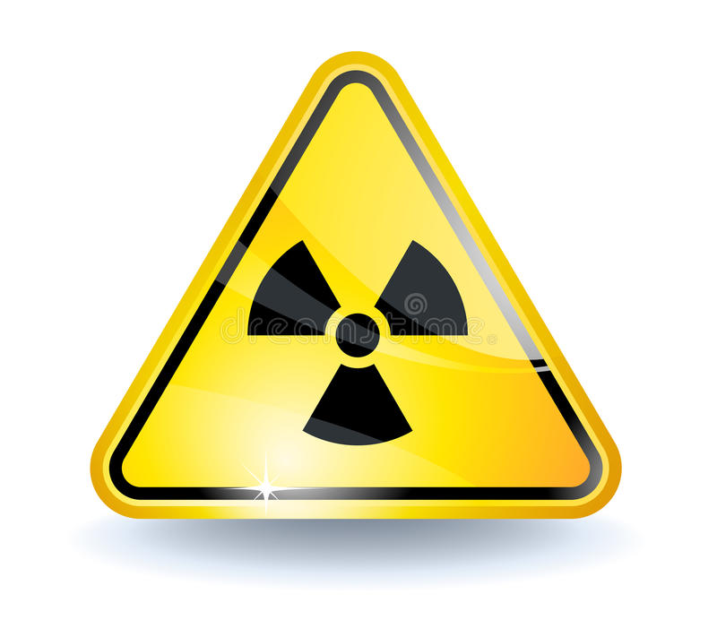 знак радиации иллюстрация штока