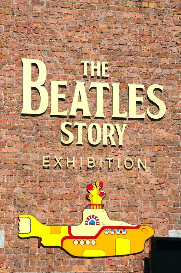 Знак рассказа Beatles, Livberpool стоковые изображения