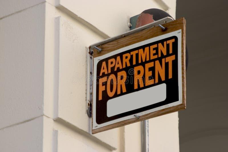 знак ренты квартиры стоковая фотография rf