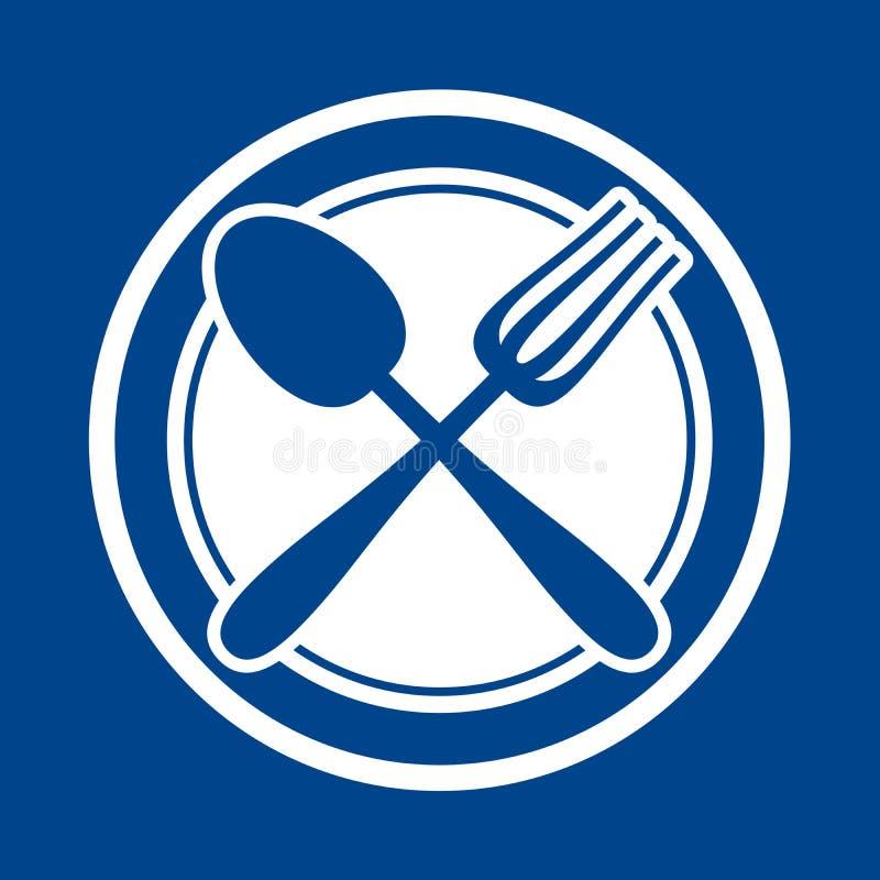 Знак ресторана иллюстрация вектора