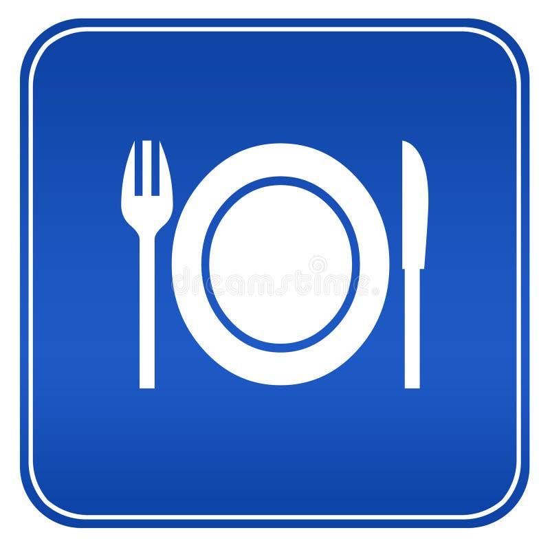 знак ресторана иллюстрация штока