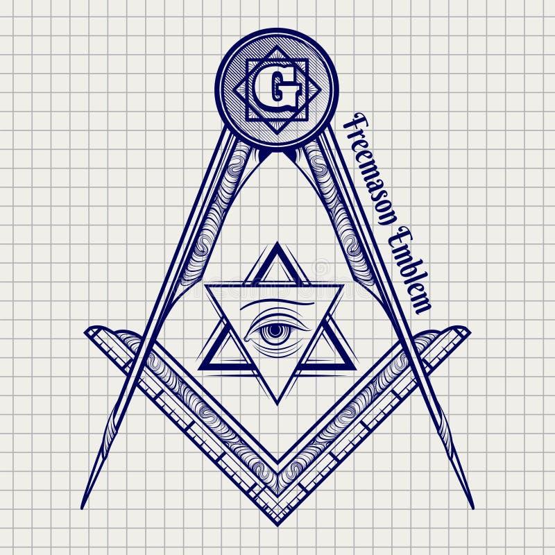 Знак ручки шарика freemasony бесплатная иллюстрация