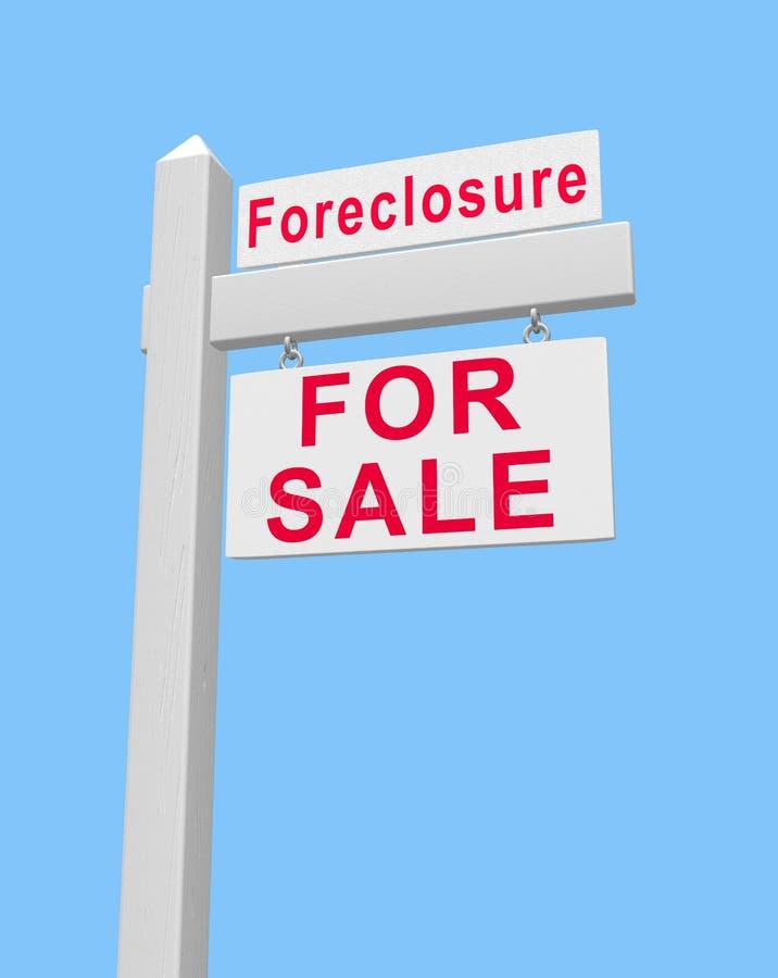 знак сбывания foreclosure бесплатная иллюстрация