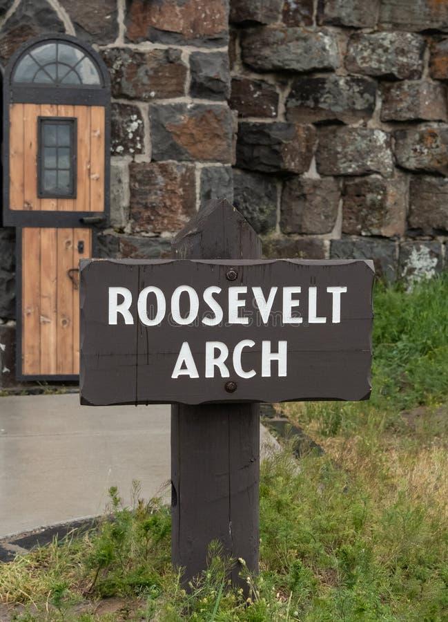 Знак свода Рузвельта стоковое фото