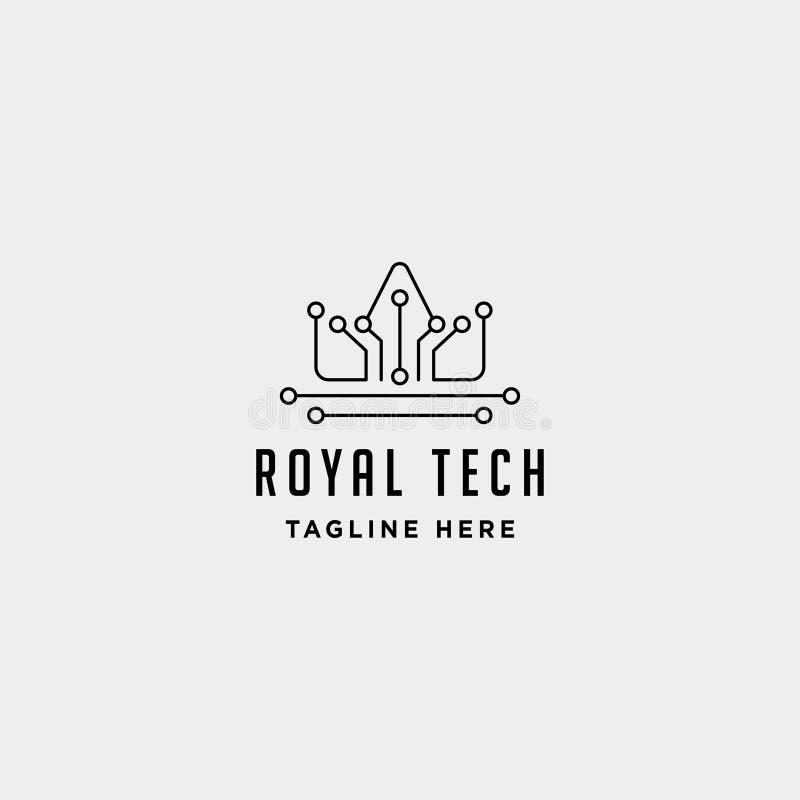 знак символа значка технологии королевского дизайна логотипа интернета кроны роскошный бесплатная иллюстрация
