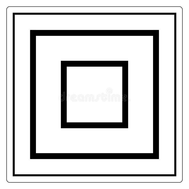 Знак символа оборудования класса II, иллюстрация вектора, изолят на белом ярлыке предпосылки EPS10 иллюстрация штока