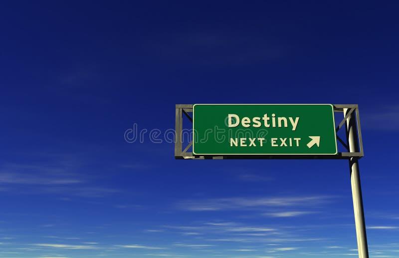 знак скоростного шоссе выхода судьбы бесплатная иллюстрация