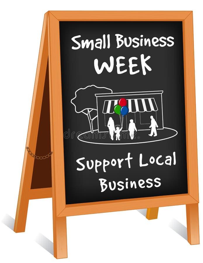 Знак, складывая мольберт, неделя мелкого бизнеса бесплатная иллюстрация