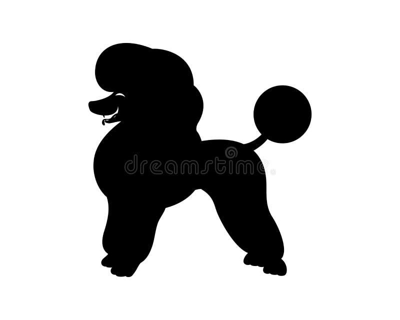 Знак собаки пуделя иллюстрация штока