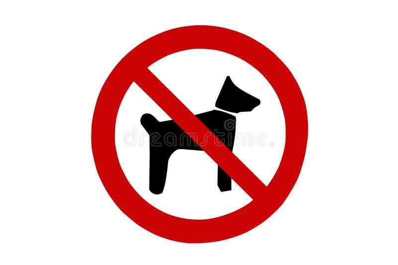 Знак собак позволенный стоковые изображения rf