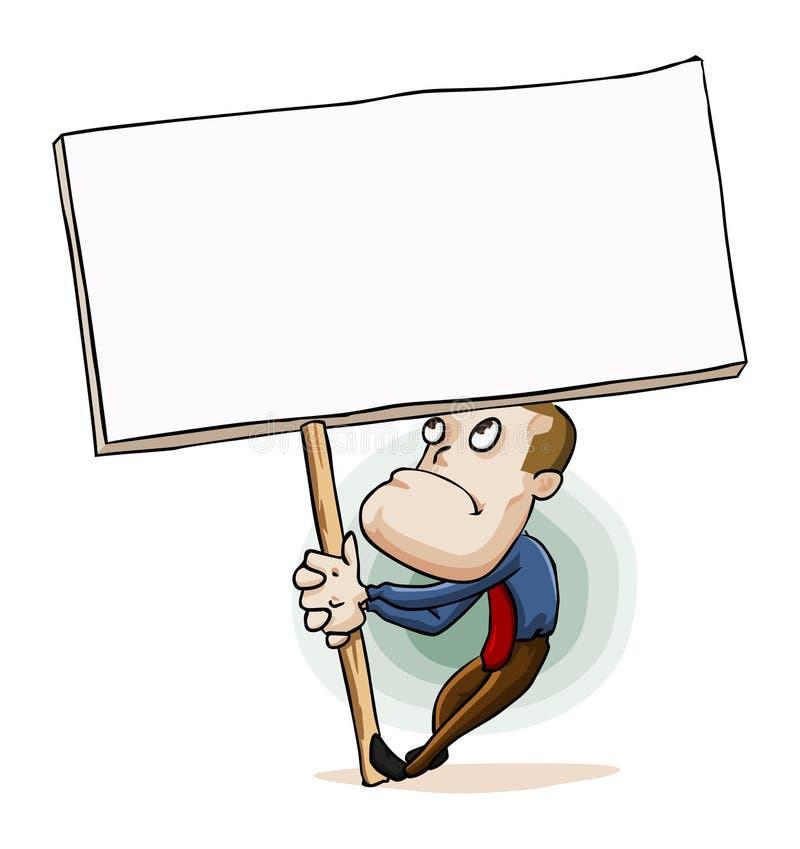 знак сообщения человека удерживания доски иллюстрация штока