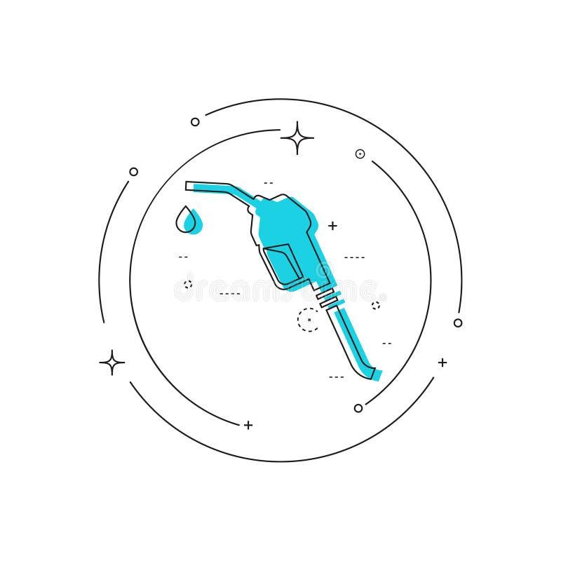 Знак сопла бензиновой колонки бесплатная иллюстрация