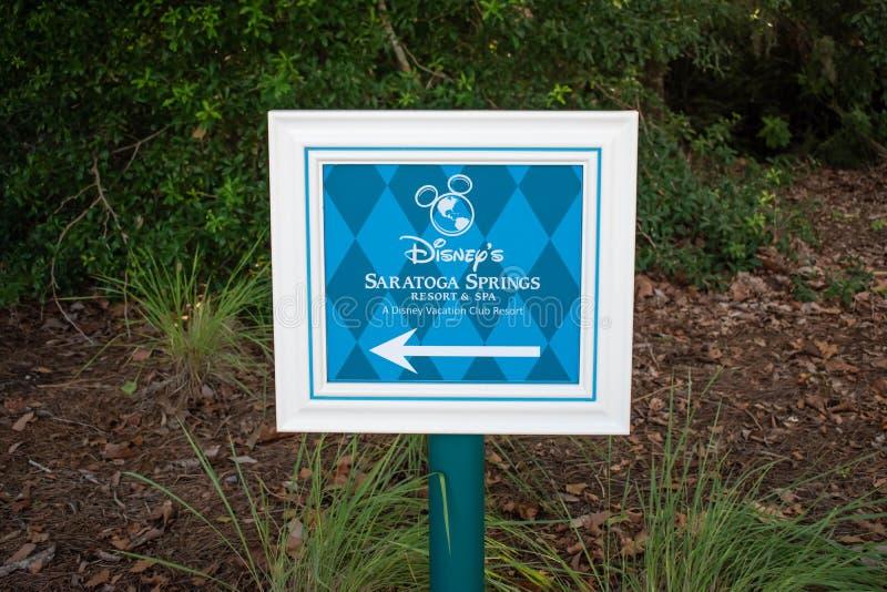 Знак спа курорта весны Saratoga на области Buena Vista озера стоковая фотография