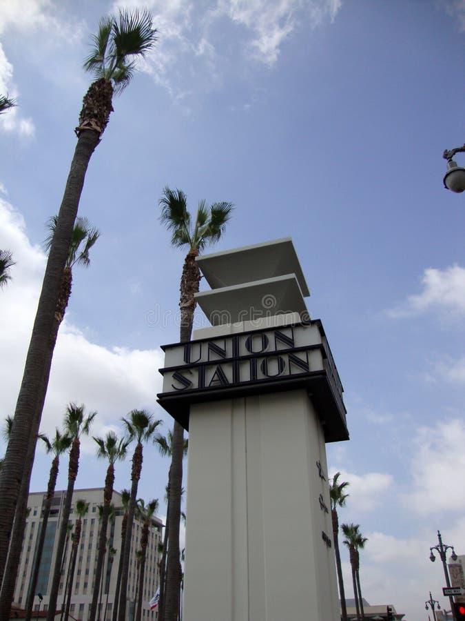 Знак станции соединения стоковая фотография rf