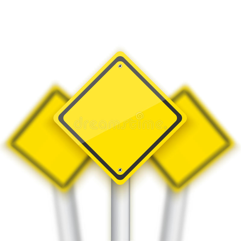 Знак стопа дороги вектора красный с запачканными знаками позади Реалистический v иллюстрация штока