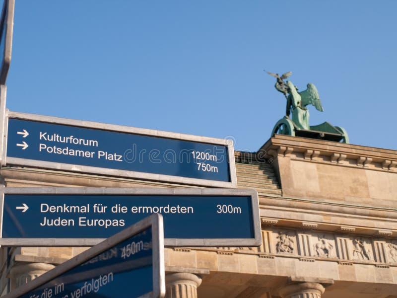 знак строба направления brandenburg стоковые изображения