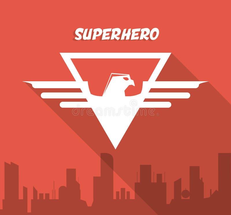 Знак супергероя Дизайн города график иллюстрация вектора